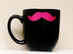 Mustache Mug...Why dont i own this.