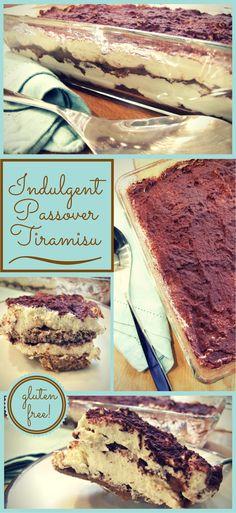 Indulgent Pesach tiramisu - gluten-free, passover dessert #pesach #passover #recipe