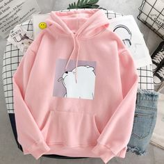 Casual pullovers – Accessories and All Cute Comfy Outfits, Stylish Outfits, Cool Outfits, Stylish Hoodies, Kawaii Clothes, Kpop Clothes, Hoodie Outfit, Teen Fashion Outfits, Look Cool