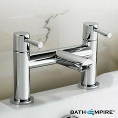 Round Bath Mixer Tap | Cascade II Chrome Bath Tap - BathEmpire £58.99