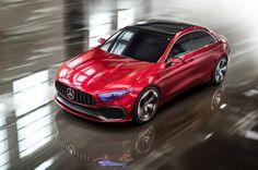 Mercedes-Benz Concept A sedan world premieres at Shanghai Auto Show