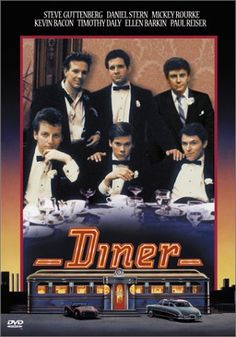 Directed by Barry Levinson.  With Steve Guttenberg, Mickey Rourke, Kevin Bacon, Daniel Stern. A group of college-age buddies struggle with their imminent passage into adulthood in 1959 Baltimore.