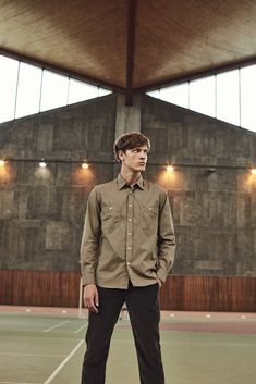 Classic regular Pocket shirt in cigar brown army cotton twill with two chest pockets and a visible placket. Garment-dyed product for a subtle washed-out effect. Can also be worn as an overshirt. Summer Collection, Winter Jackets, Army, Pocket, Fall, Kids, Shirts, Shopping, Women