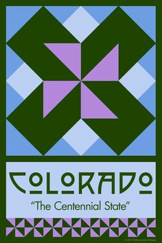Olde America Antiques | Quilt Blocks | National Parks | Bozeman Montana : 50 STATE QUILT BLOCK SERIES - COLORADO