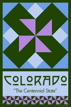 Olde America Antiques | Quilt Blocks | National Parks | Bozeman Montana : 50 STATE QUILT BLOCK SERIES - COLORADO