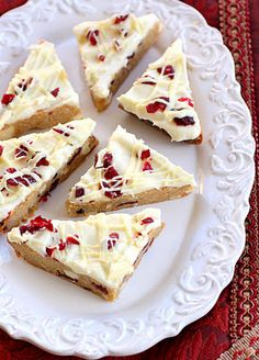 Cranberry bliss bars--Grandma's favorite treat from Starbucks at Christmastime! I'm so making these!