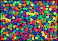Czech Glass Round Pressed Beads by ScaraBeads