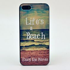 Life's Beach Enjoy the Waves Pattern Hard Case for iPhone 5/5S  – EUR € 3.67