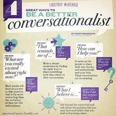 4 Great Ways to Be a Better Conversationalist #tips #lifehack