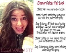 Want Eleanor's hairstyle? here are the steps: