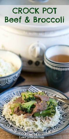 It's so easy to make a crock pot beef and broccoli in your slow cooker. You don't even have to brown the meat first. Just dump it all in and cook.   http://LowCarbYum.com
