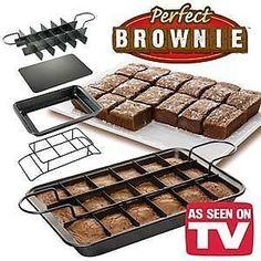 New 18 Portions Brownies Maker Bake Tray Tin Pan Set Ultimate Cake Baking Kit   eBay