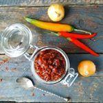 Homemade sambal badjak Gemaakt met oa westlandpeppers Een van mijn favoriete sambals Recept binnenkort online sambal spicy foodlover homemade foodpic foodblogger eetspiratie foodphoto Indonesian indofood indofoodies