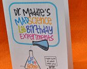 Mad Science Birthday - Printable Experiment Book Party Favor ideas