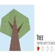 Tree paper pieced quilt block - via @Craftsy
