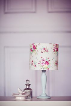 Medium lamp base with crystal balls and white scallop hourglass lamp shabby chic lamp shade shabby chic decor by shadowbrightlamps aloadofball Choice Image