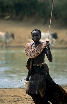 Africa | Pokot girl, down by the river. North of Baringo, Kenya | ©Olivier Darmon