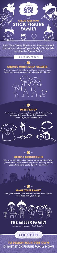 Create your own stick figure family! #DisneySide #DIY #Tutorial
