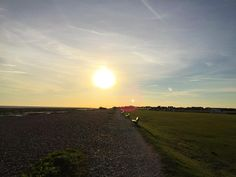 I'm joining #axschat from sunny #Sussex this was the beach this evening