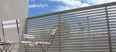 Bayside Privacy Screens, Aluminium Outdoor Shutters & Screens … - All About Balcony Outdoor Shutters, Outdoor Privacy, Balcony Privacy Screen, Privacy Screens, Balcony Garden, Balcony Ideas, Fence Gate, Aluminium, Decoration