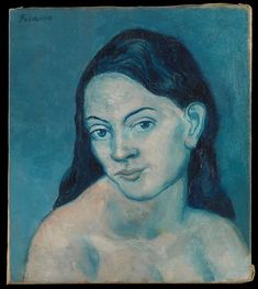 Pablo Picasso - Head of a Woman, 1903 at New York Metropolitan Art Museum Pablo Picasso, Art Picasso, Picasso Paintings, Georges Braque, Spanish Painters, Spanish Artists, Picasso Blue Period, Paul Gauguin, Henri Matisse