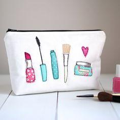 Hacer apliques maquillaje bolsa bolsa bolsa por rosiebulldesigns