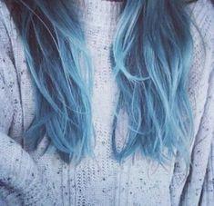 Blue dip dye <3