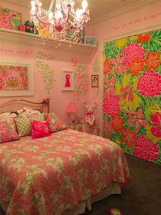 Lilly Pulitzer theme bedroom