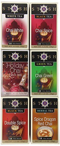 Stash Tea 6-Flavor Assortment Tea, Chai Lovers, 6 Count ** Be sure to check out this awesome product.