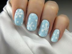 Snowflake nails for Christmas, cutepolish on youtube is amazing, love all her tutorials! <3