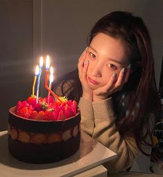 Birthday Girl Pictures, Girl Birthday, Korean Birthday, Jung Chaeyeon, Ioi, Korean Girl Groups, Girl Crushes, Ulzzang, Birthday Candles