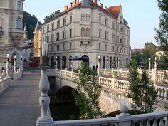 Tromostovje - Three bridges, Ljubljana, Slovenija