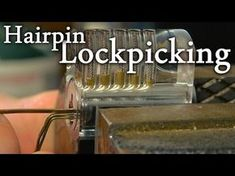 How To Pick a Lock Using Nothing But Hairpins. Good to know.. if your locked out of your house... or breaking into somewhere *cough* *cough* whaaaaat?! I said nothing.