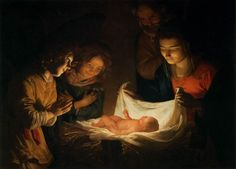 Nativity Artwork by the Masters | Adoration of the Christ Child