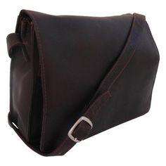 Piel Handbag With Organizer 9033 Chocolate Women's