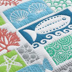 A detail of our Beach House Quilt