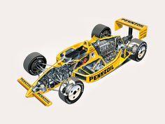 1988 Penske-Chevrolet PC17 - Illustrated by Tony Matthews