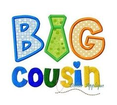 Big Cousin with Tie Applique - 3 Sizes! | What's New | Machine Embroidery Designs | SWAKembroidery.com Dollar Applique