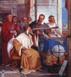 Galileo shows the Doge of Venice how to use the Telescope : circa 1857 #ItalianPainting