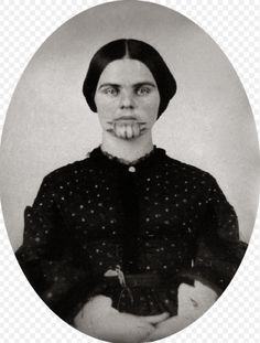 """Photo of Indian captive Olive Oatman, 1857. Source: Beinecke Rare Book and Manuscript Library, Yale University; Wikimedia Commons. Read more on the GenealogyBank blog: """"Olive Oatman's Rescue: A True Indian Captive Story."""" http://blog.genealogybank.com/olive-oatmans-rescue-a-true-indian-captive-story.html"""