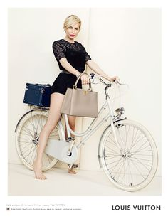 currently hyperventilating! Michelle Williams stars in Louis Vuitton's 2014 Spring Ad Campaign #bikestyle