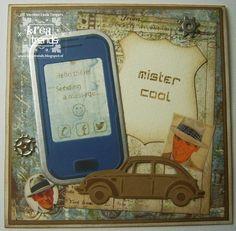 Gemaakt door Linda Messages, Cool Stuff, Phone, Telephone, Phones, Mobile Phones