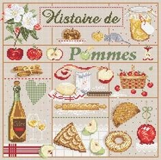 Madame la Fee, Histoire de Pommes, схема для вышивания крестом, купить…