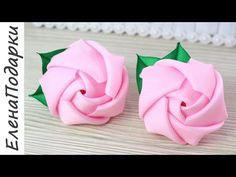 Ribbon Art, Ribbon Crafts, Fabric Ribbon, Flower Crafts, Ribbon Rose, Handmade Flowers, Diy Flowers, Fabric Flowers, Ribbon Flower Tutorial