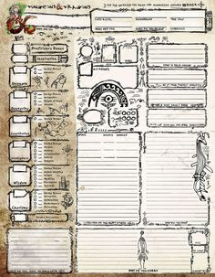 Aboriginal Character Sheet - Dungeon Masters Guild | Dungeon Masters Guild