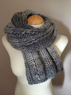 Hand Knitted Scarf / Shawl / Shrug / Stole / Wrap in by JillyMix