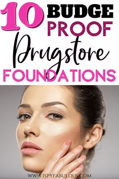 Looking for an affordable foundation you can't sweat off? These 10 drugstore foundations won't move when humidity strikes and are also somewhat waterproof. So, go enjoy your summer and know that your foundation can keep up with you. Best Drugstore Makeup, Drugstore Makeup Dupes, Beauty Dupes, Full Coverage Drugstore Foundation, Make Up Dupes, High End Makeup, Makeup Revolution, Concealer, Eyeliner