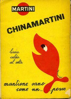 Vintage Italian Posters ~ #Italian #vintage #posters ~ Chinamartini Aprile 1956 by Mario Algozzino