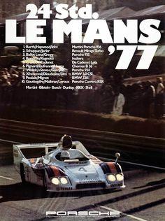 24hrs Du Mans 1977 WINNER Poster Reprint