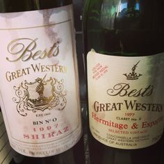 Very spoilt to get to try these wines at the Grampians Grape Escape 2013. Superb examples of Australian Shiraz from Bests Wines Great Western.